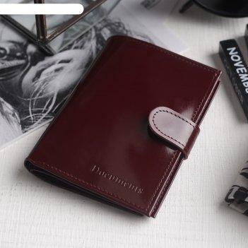 Обложка для автодокументов и паспорта, отдел для купюр, 5 карманов для кар