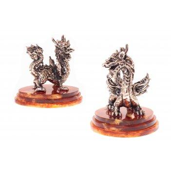 Сувенир мудрый дракон из янтаря