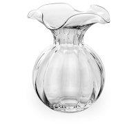 Ваза h 29 см, прозрачная, стекло, ручная работа, серия primu