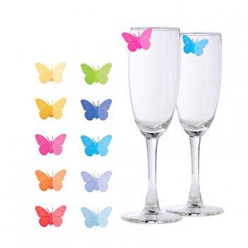 Маркеры для бокалов drink wings 10шт.