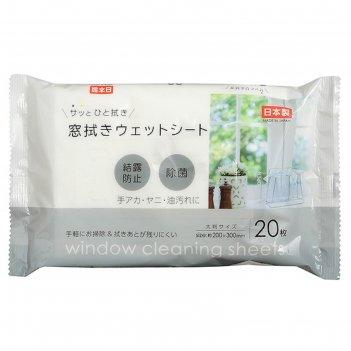 Салфетки влажные для мытья окон sanny tex, 20 шт.