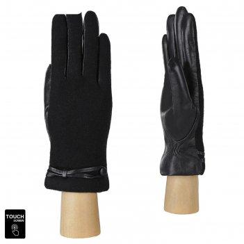 Перчатки женские натуральная кожа/шерсть (размер 7) черный