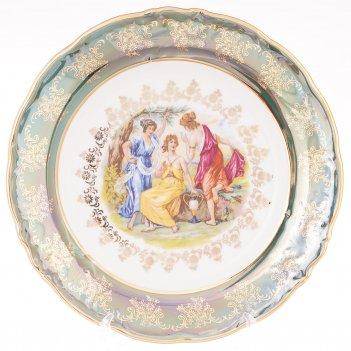 Набор тарелок carlsbad фредерика мадонна зеленая 25см(6 шт)
