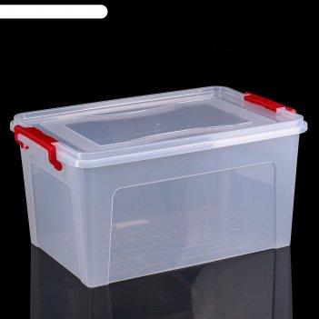 Контейнер для хранения 25 л, прямоугольный, цвет прозрачный