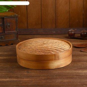 Бамбуковая пароварка батам 30х30х10 см