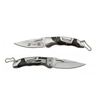 Нож складной stinger,165 мм, рукоять: нержавеющая сталь/дерево, (коричневы