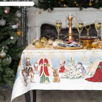 Скатерть  этель christmas time150х220 см, хлопок 100%
