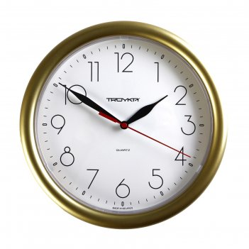 Часы настенные круглые исток, d=24,5 см, золотистые