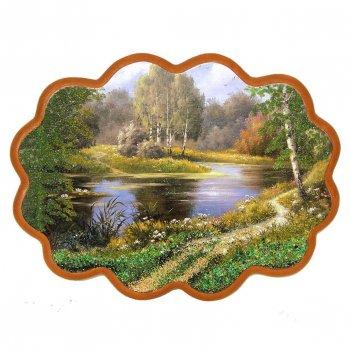 Панно тропинка у озера №3 (34х26 см)