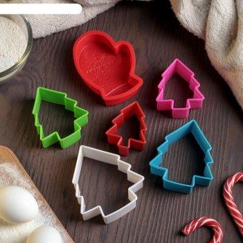 Набор конд принадлежностей новогодняя 2 пр: форма для выпечки, набор форм