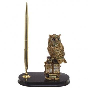 Фигурка декоративная сова с подставкой для ручек и ручкой, l...