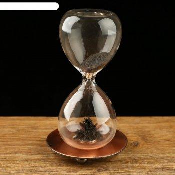 Часы песочные на вес золота, магнитный песок, 8х16 см