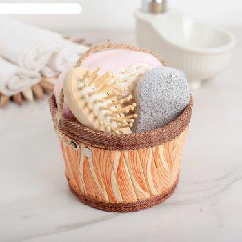 Набор банный 3 предм. (расческа, пемза, мочалка), цвет микс