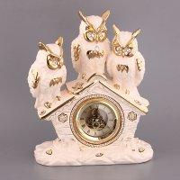 Часы настольные три совы высота=37 см.