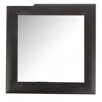 Зеркало «венге», настенное 42x42 см