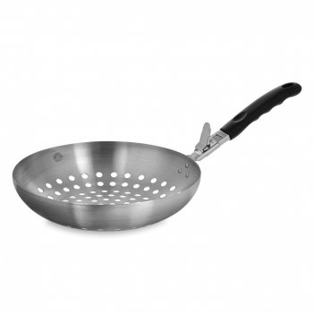 Вок для овощей со съемной ручкой bbq, диаметр: 28 см, материал: нержавеюща