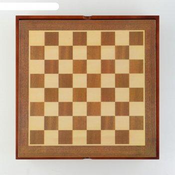 Шахматы сувенирные долина смерти (доска 36х36х6 см, h=7.5 см, h=6.5 см)