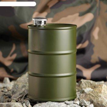 Фляжка стратегический запас 800 мл, тёмно-зелёная, 9.2х14.5 см