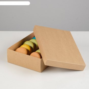 Подарочная коробка сборная, крафт, 21 х 15 х 5 см