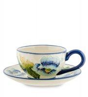 Bs-243 чайная пара голубые маки