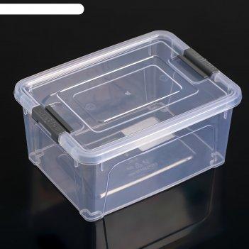 Контейнер smart box  0,8л, цвет прозарачно-серый