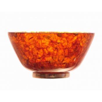Блюдо из янтаря пиала в серебре