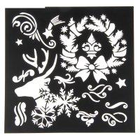 Трафарет для творчества новогодние чудеса,15 х15 см