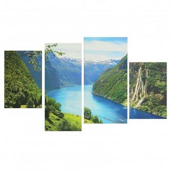 Модульная картина на подрамнике горная река, 2 — 30x45, 1 — 29,5x69, 1 — 3