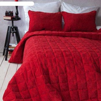 Комплект «софт»: размер 250 x 270 см, наволочки 40 x 60 см - 2 шт, красный