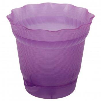 Горшок для цветов с поддоном aquarelle, d=17,0; 1,7 л, фиолетовый