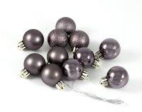 """Набор ёлочных игрушек """"шары"""" из 6шт. 60мм, темное серебро"""