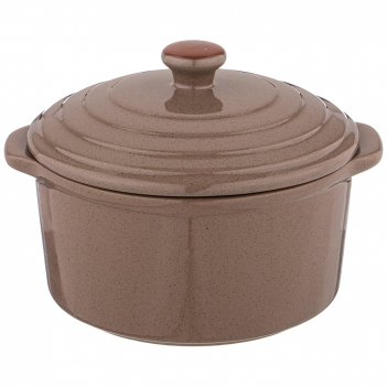 Гошочек для запекания agness modern kitchen серый 600мл 16*14*11 см