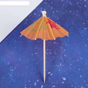 Шпажки для канапе зонтик, набор 12 шт.