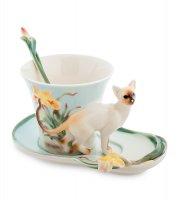 Fm-69/ 1 чайная пара сиамский кот (pavone)