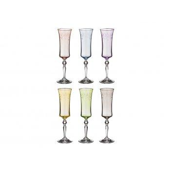 Набор бокалов для шампанского из 6 шт. грейс микс...