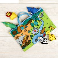 Развивающий коврик «джунгли зовут» с игрушками