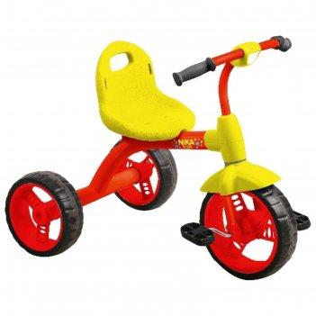 Велосипед трехколесный nika вд1, цвет красный с желтым