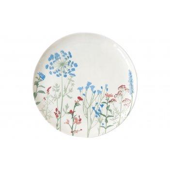 Тарелка обеденная (голубой) луговые цветы без инд.упаковки