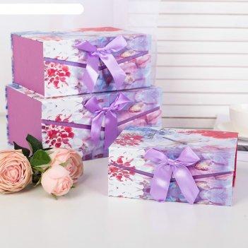 Набор коробок 3 в 1, 25 х 18 х 12 - 19 х 14 х 8 см