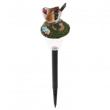 Светильник садовый на солнечных батареях tdm сп птицы, пластик, меняет цве