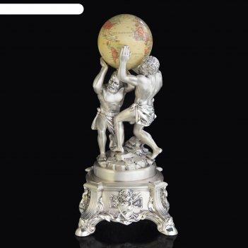 Статуэтка атланты и земной шар, бежевый
