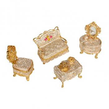 Шкатулка мебельный гарнитур s-2703 золотистый