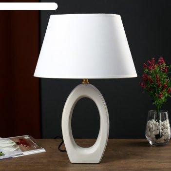 Настольная лампа 1204 1х60w e27 белый 28,5х31 см