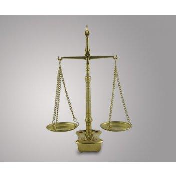 Весы настольные с гирьками из латуни (23х18х8 см), италия