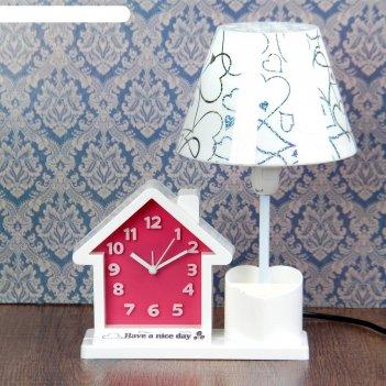Часы-светильник have a nice day с карандашницей, в форме дома, з0х25х16.5