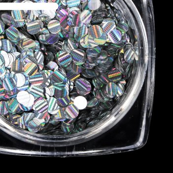 Блёстки для ногтей 3d d=2мм, цвет серебристый