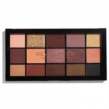 Палетка теней revolution makeup re-loaded palette, оттенок velvet rose