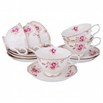 Чайный набор на 6 персон завтрак у королевы 12пр. 220 мл. (кор=6наб.)