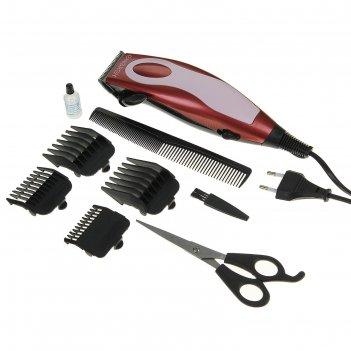 Машинка для стрижки волос energy en-718, 13 вт, 4 насадки
