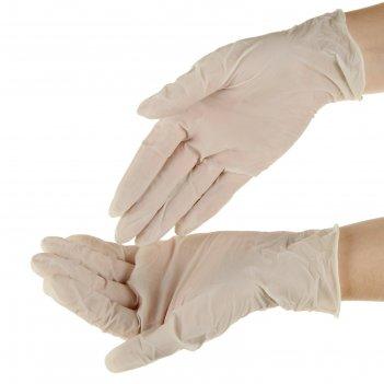 Перчатки смотровые top glove латексные, нестер. опудр.  р-р м
